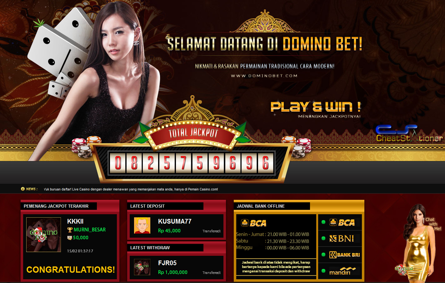 DominoBet Agen Domino Bet Online, Domino QQ Indonesia
